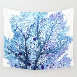 Fan Coral - Blue Wall Tapestry