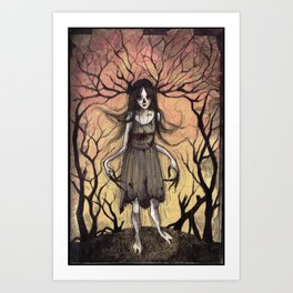 Witch of the Wood Art Print