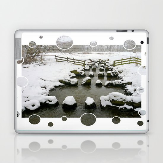 Winter Impression - Stones in the Brook Laptop & iPad Skin