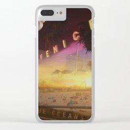 Venice California Clear iPhone Case
