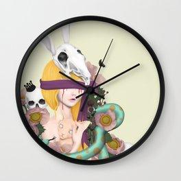 blind girl Wall Clock