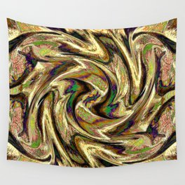 Gold Brown  Rotation Motaion Background Abstact Wall Tapestry