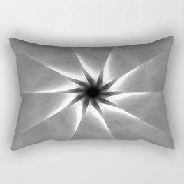 Gray Kaleidoscope Art 25 Rectangular Pillow
