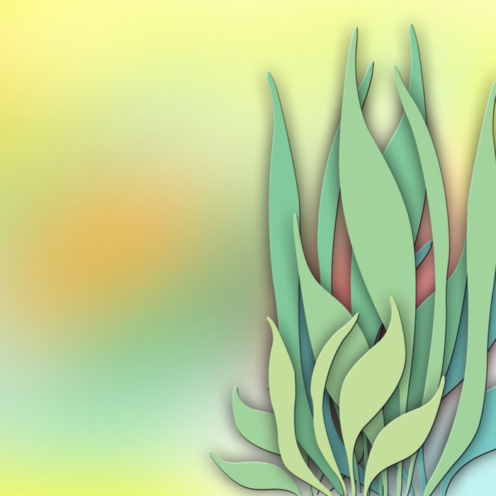 Abstract Plant in the Summer Comforters