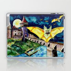 Halloween Landscape with Bats and Transylvanian Castle Laptop & iPad Skin