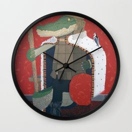 Crocodile King (KNG) Wall Clock