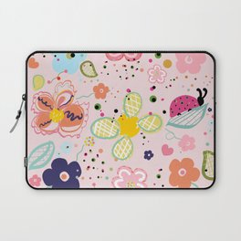 Abstract Colorful Decorative Spring Art Floral Design Pattern Laptop Sleeve