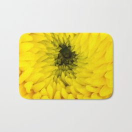 Fluffy Yellow Chrysanthemum Close-up  Bath Mat
