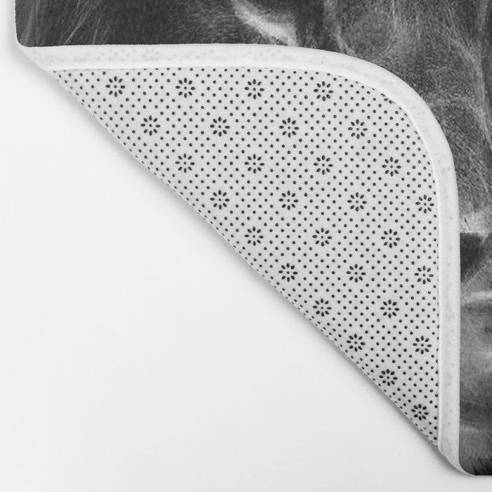 lion.  Black & White Bath Mat