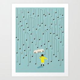 Singing in the Rain v2 Art Print