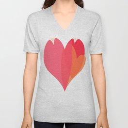 Heart love Unisex V-Neck