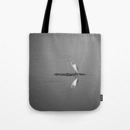 """Mirrored Egret"" by Murray Bolesta Tote Bag"