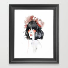 Flower Crown // Fashion Illustration Framed Art Print