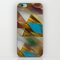 minerals iPhone & iPod Skins featuring Glow Geometry Minerals Pattern by mb13