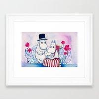 moomin Framed Art Prints featuring Moomin Family by Vivian Z