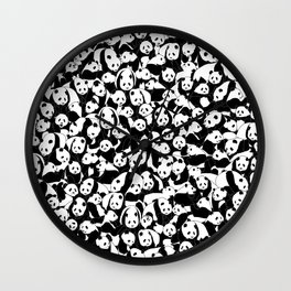 Less Hate More Panda Wall Clock
