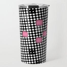 Mod blurry squares pattern Travel Mug