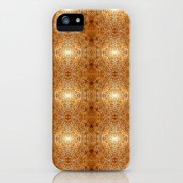 Rich Gold Bronze Mandala Engraved Pattern iPhone Case