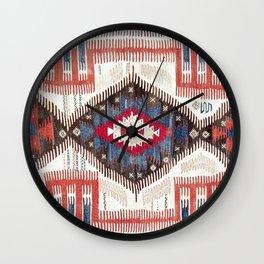 Afyon  Antique Phrygian Turkish Kilim Print Wall Clock