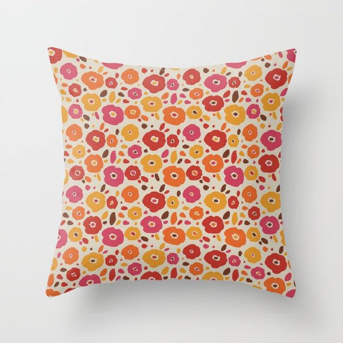 Vintage Colorful Flower Pattern