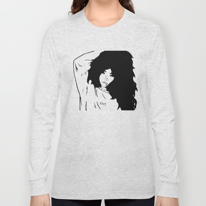 9a73710b SZA Ctrl Long Sleeve T-shirt by zoe_a   Society6