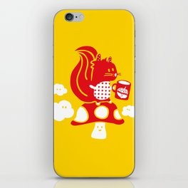Squirrel teatime iPhone Skin