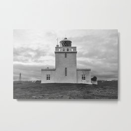 Dyrholaey Lighthouse Metal Print