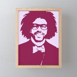 Daveed Diggs (Pink) Framed Mini Art Print