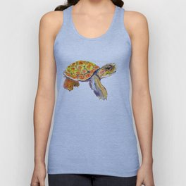 Orange Baby Turtle Unisex Tank Top