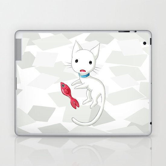 Cat and Fish Laptop & iPad Skin