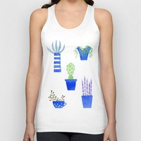 succulents Tank Tops featuring Succulents by Nic Squirrell