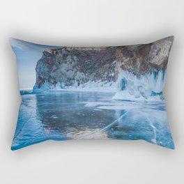 Blue Ice of the Lake Baikal Rectangular Pillow
