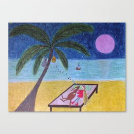 Ozzi and Lulu, the Beach Canvas Print
