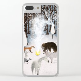 the forest guardians Clear iPhone Case