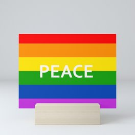 LGBT Pride Flag Peace Mini Art Print