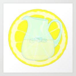 Lemonade With Slice Art Print