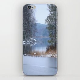 Blue Moment By The Lake iPhone Skin