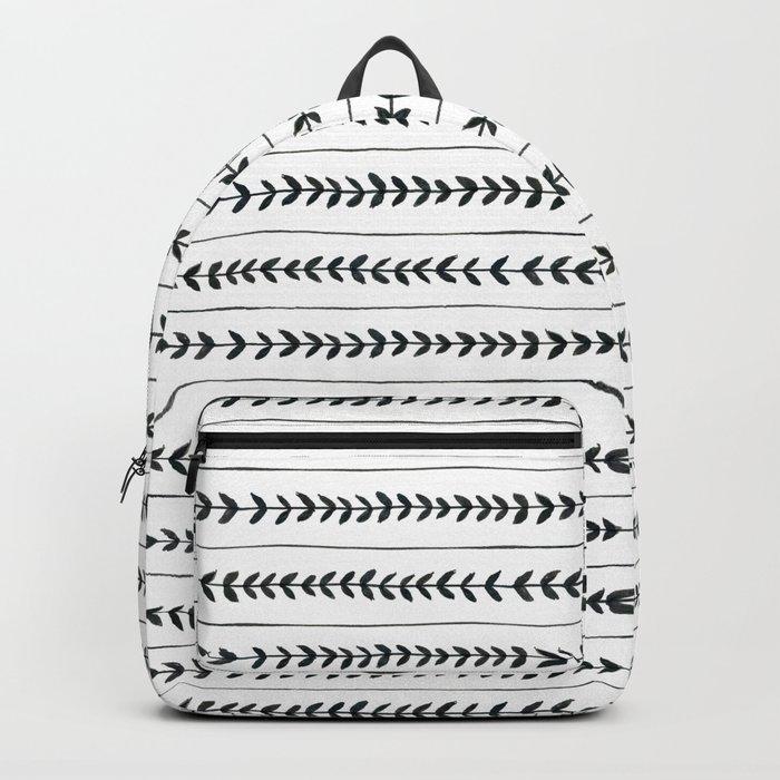 Laurel stripe - back and forth Backpack