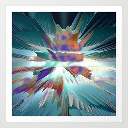 Pow Teal Splash Art Print