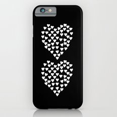 Hearts Heart x2 Black Slim Case iPhone 6s