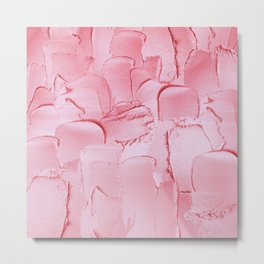 Girly Pink Acryl Thick Metal Stripes Metal Print