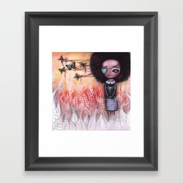 Afro Girl Framed Art Print
