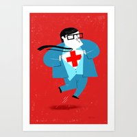 heroes Art Prints featuring Heroes by Simone Massoni