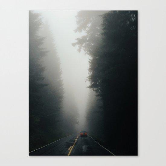 Dark Forest Driving Canvas Print