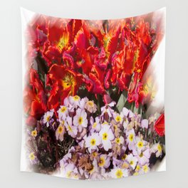 Flowers in town Wall Tapestry