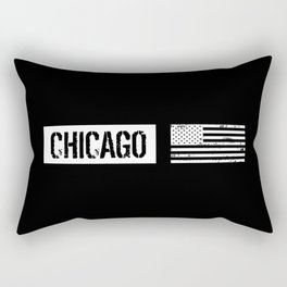 U.S. Flag: Chicago Rectangular Pillow