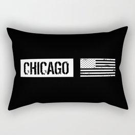 U.S. Flag: Chicago Rectangular Pillow