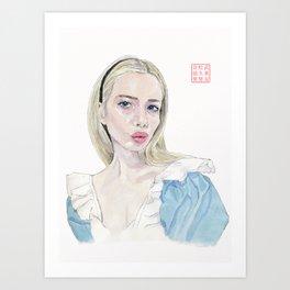 Alice in Selfie-land Art Print