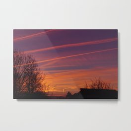 Neon Chemtrails Metal Print