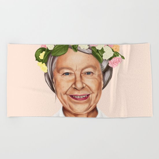 Hipstory - Queen Elizabeth Beach Towel